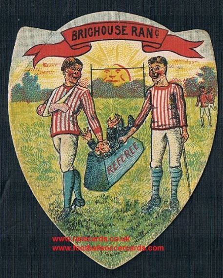 1890s Brighouse Rangers N.U. founders Pears Soap referee card